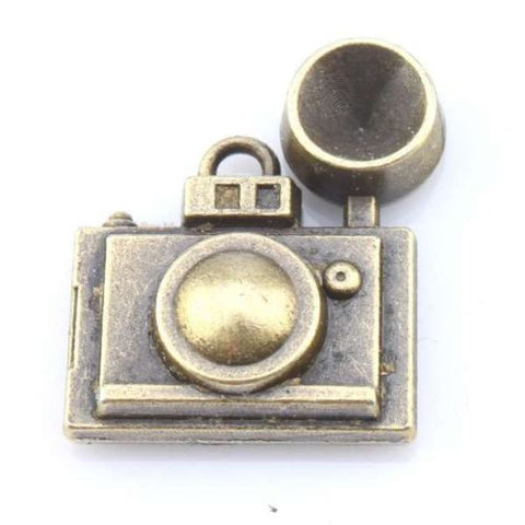 10x 143989 Wholesale Camera Charms Antique Bronze Tone Alloy Pendants Finding