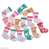 200PCs BD Sock Wood Button Two Holes Scrapbooking Crafts Christmas Decoration
