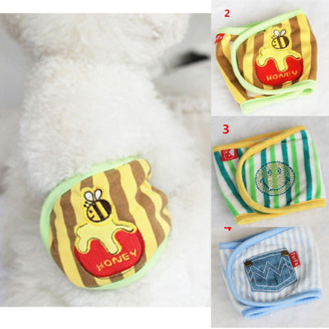 1X Pet Dog Pants Yellow Underpants Menstrual Sanitary Nappy Diaper Female Male L