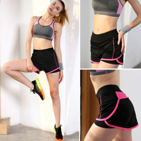 BD Summer Pants Women Sports Shorts Gym Workout Waistband Skinny Yoga Trousers