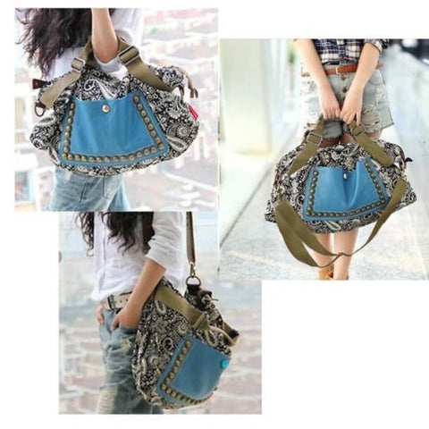 Women Lady Retro Messenger Bag Tote Shoulder Handbag Satchel PU Leather Purse