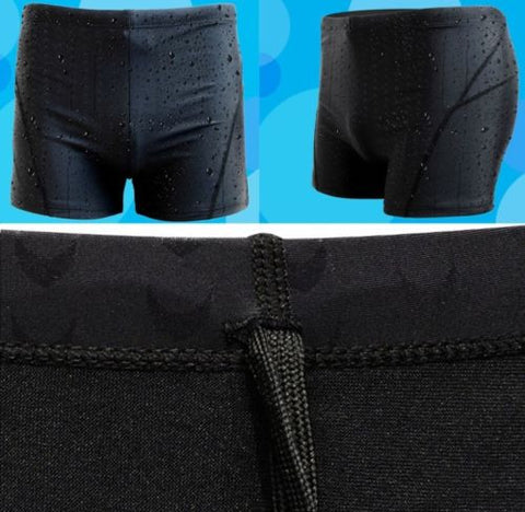 2017 New Men's Black Swim Trunks Swimming Shorts Slim Waterproof Swimwear Pants