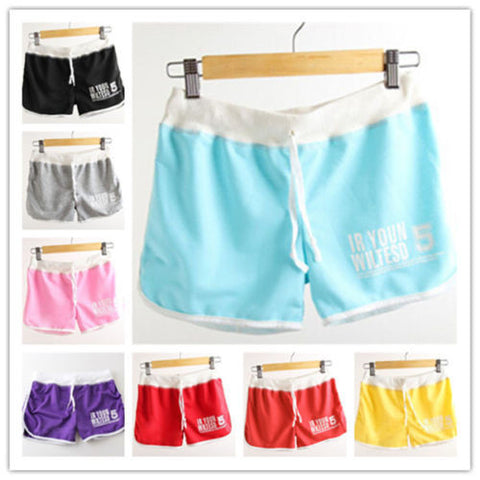 2017 Women Brand Fashion Summer Sports Elastic Waist Female Casual Yoga Shorts