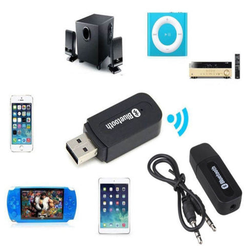 3.5mm Dongle USB Bluetooth Wireless Stereo Audio Speaker Receiver Adapter H N