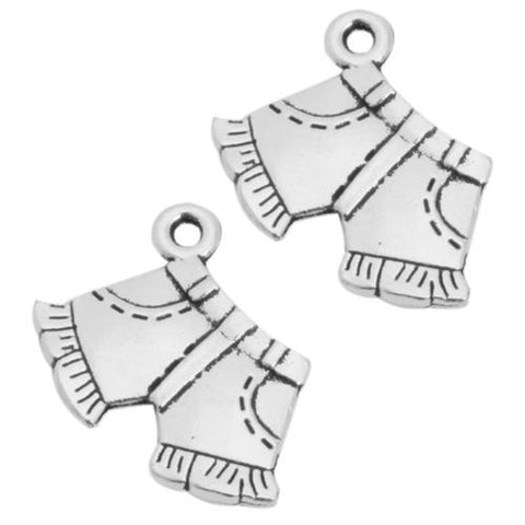 50pcs Hot Antique Silver Tone Charms Shorts Pendants Alloy Jewelry Accessories J