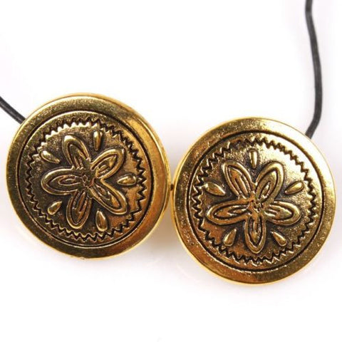 20pcs Wholesale Flowers Pattern Golden Carved Button Fits Coat/clothes/pants J