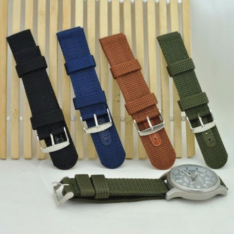 Men's Classic Military Army Watch Strap Band High Quality Nylon Wristwatch Bands