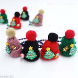1PC BD New Cute Christmas Ornament Gift Donut Ice Cream Hat Hairpin Hair Band