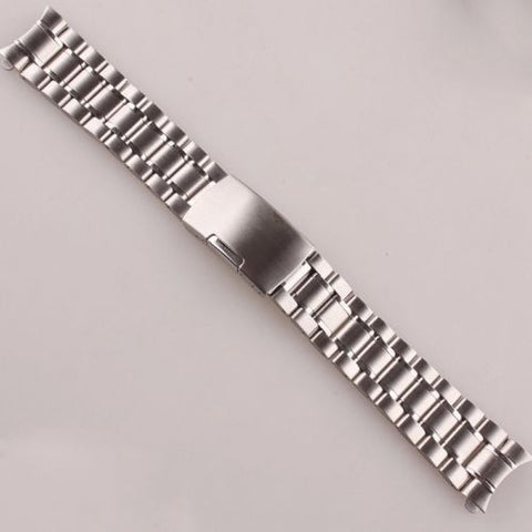 18mm 20mm 22mm 24mm Stainless Steel Watch Band Silver Wristwatch Strap  Band