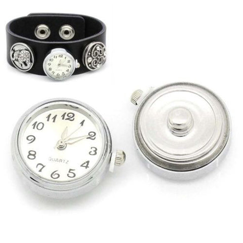 "1 PC Watch Face Snap Click Buttons Snap Silver Plated 25mmx21mm(1""x7/8"")"
