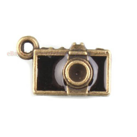 150x New Arrival Wholesale Camera Charm Antique Bronze Alloy Pendant Finding J