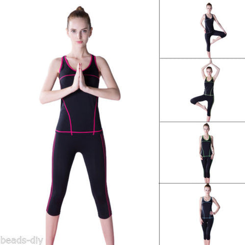 1Set BD Women's Sportswear Suit Gym Outfit Stretch Vest Top Leggings Yoga Pants