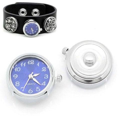 "1 PC Watch Face Snap Click Buttons Snap Blue 25mmx21mm(1""x7/8"")"