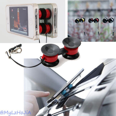 Double Suction Cups Mini Car Accessories Phones Mount Holder for GPS MP4 HOT