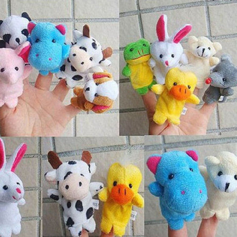 10 Pcs Animal Finger Puppets Cloth Doll Baby Educational Hand Cartoon Animal Toy