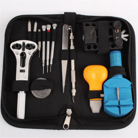 1 Set Watch Repair Tool Kit Opener Link Remover Spring Pin Bar w/ Black Case