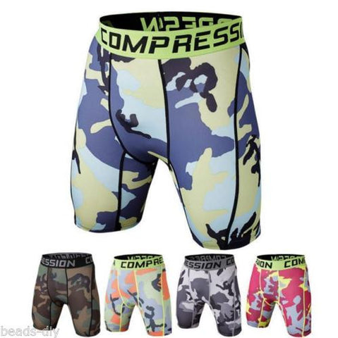 BD Men's Sports GYM Quick-dry Camouflage Shorts Pants Athletic Tights Underwear