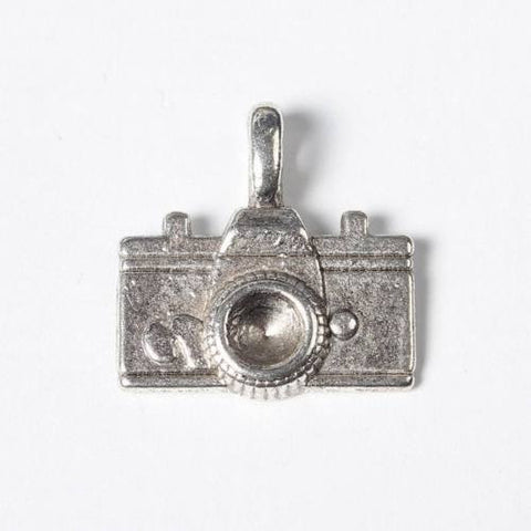 10pcs Antique Silver Camera Pendants Small Jewelry Charms Retro for Bracelet DIY
