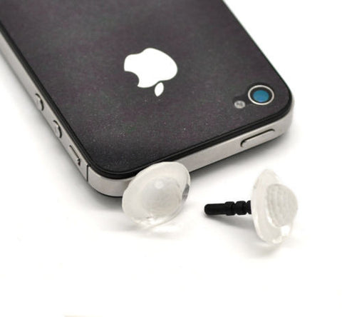 10PC Clear Acrylic Hat 3.5mm Dust Dustproof Plug Earphone Stopper 23x19mm
