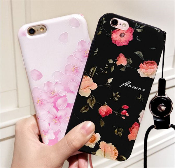 iphone case 3D relief floral gardens 7 plus 6 Style