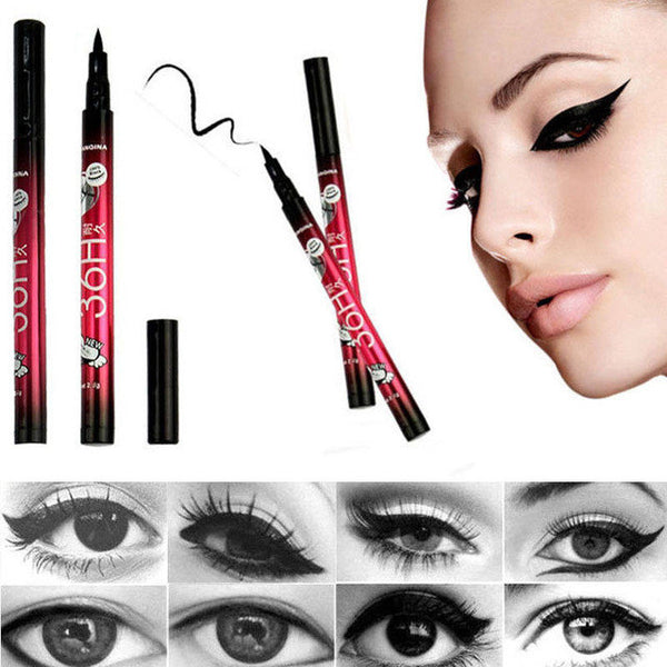 1 PC Hot Women Black Liquid Eyeliner Long-lasting Waterproof Eye Liner Pencil Pen Nice Makeup Cosmetic Tools delineador