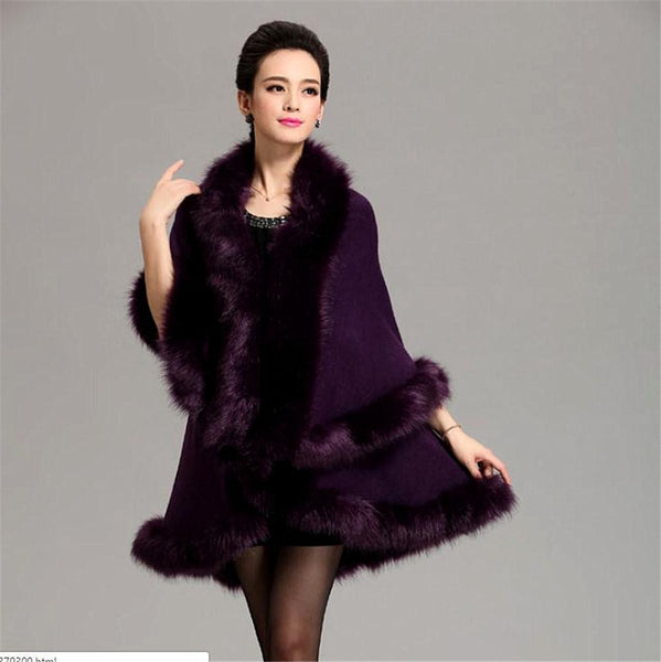12 Colors New Long Loose Luxury Overcoat Women Cashmere Pashmina Cape Winter Shawl