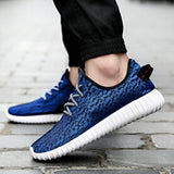 New Men & Women Casual Shoes Fashion Breathable Shoes Grey Black Lacing Flat Shoes Plus Size