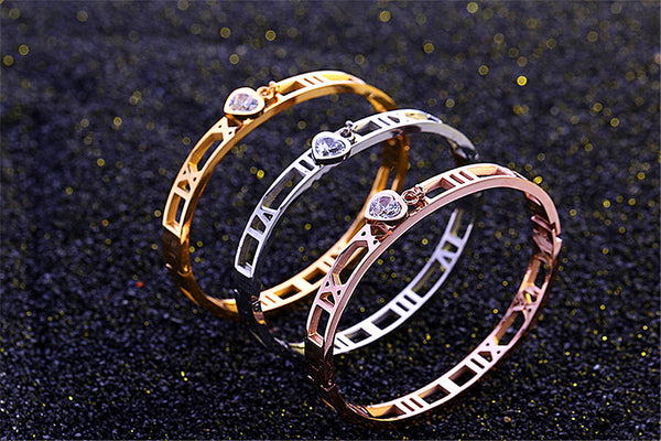 AAA waterinfo drill classical roman numerals bracelet women jewelry