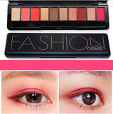 Professional Eyeshadow Matte Shimmer Palette with brush Makeup Kit 10 Colors