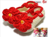 12 colors 0-1 Age baby crochet knitting wool baby Unisex baby shoes