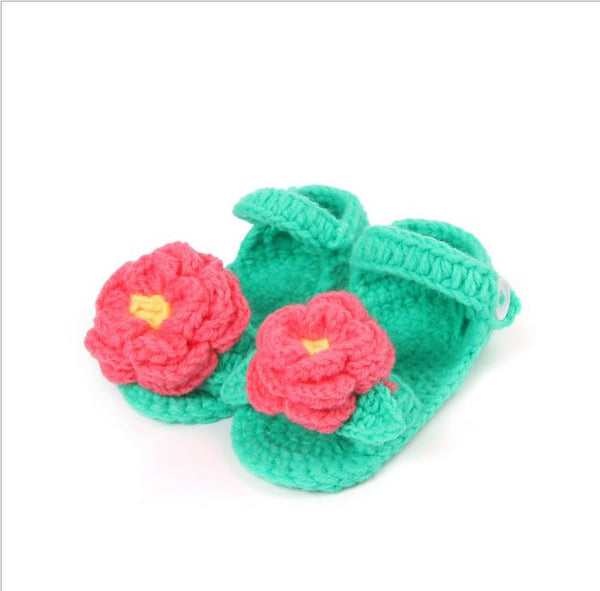 0-1 Age baby crochet knitting wool baby girl shoes