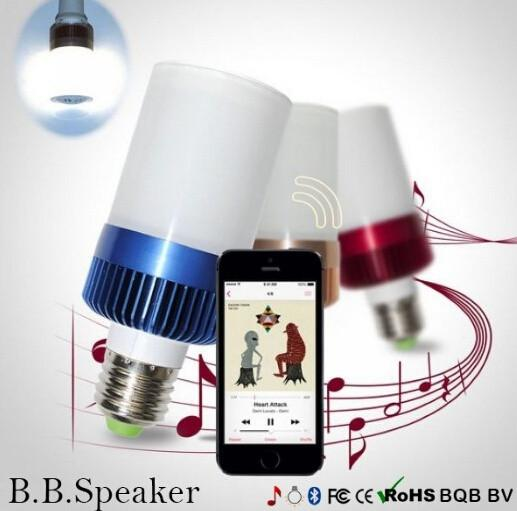 New New 2 in 1 LED Light Bulb Bluetooth 4.0 Speaker E27 cool white Base Music Lamp Player 400-460 LM For Bedroom and Cellphone