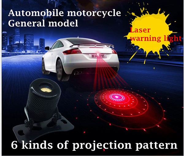 Auto laser anti-collision Warning light LED taillights motorcycle auto accessories