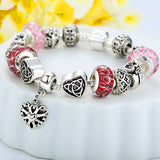 925 Silver Bracelet Lady Heart Charms in Oxidation Bracelet & Bangles SP1822
