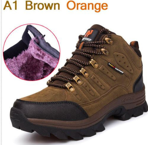 Winter snow ankle boots warm fur Unisex shoe,Non-slip waterproof men's boot shoes
