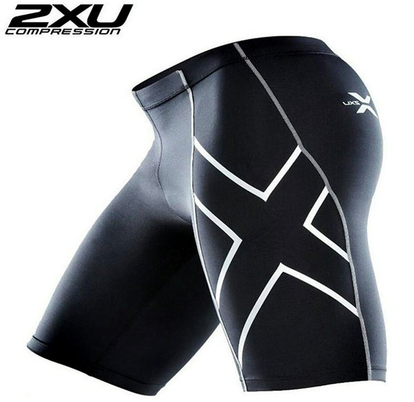 2XU compression man short pants elastic fitness tight pant Quick-drying bicycle pants
