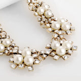 Fashion vintage za Brand jewelry new Shourouk Luxury flower pearl Statement necklace