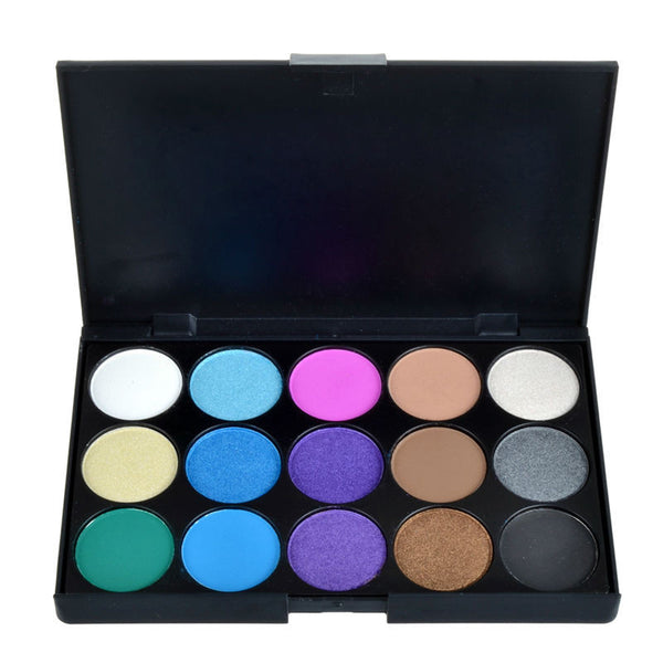 15 Earth Colors Matte Pigment Eyeshadow Palette Cosmetic Makeup Eye Shadow