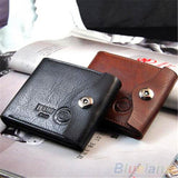 Bifold Wallet Men's Genuine Brown Credit/ID Card Holder Slim Purse Gift