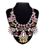 New Vintage shourouk style fine costume za jewelry major suit flower sapphire statement Chokers necklace
