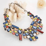 Women jewelry vintage maxi colar hip hop chokers big necklace Colorful turkish max statement necklace designer brand