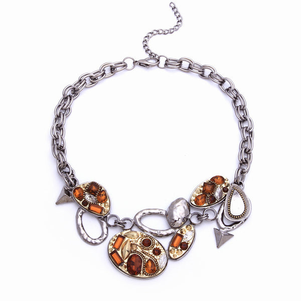 jewelry manufacturers Various shapes are various combinations Bilateral chain necklace women