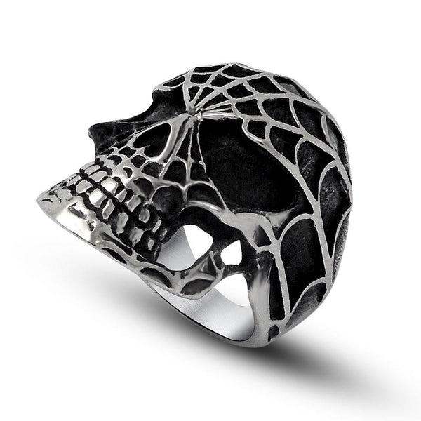 Spider Man skull trend exaggeration index finger ring for man SA499