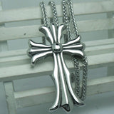 The latest cross Flower steel Pendant Necklace for men Titanium steel jewelry including chain SP251