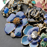New big fashion jewelry collares beautiful long enamel Colorful flower necklace sweet boho statement necklace for women