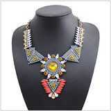 new design za brand jewelry Vintage Chokers Necklaces sun flower rhinestone necklace for woman wholesale
