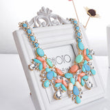 Fashion jewelry Water drop bib choker shourouk style Accessories Pendant Rope chain short statement necklace for woman