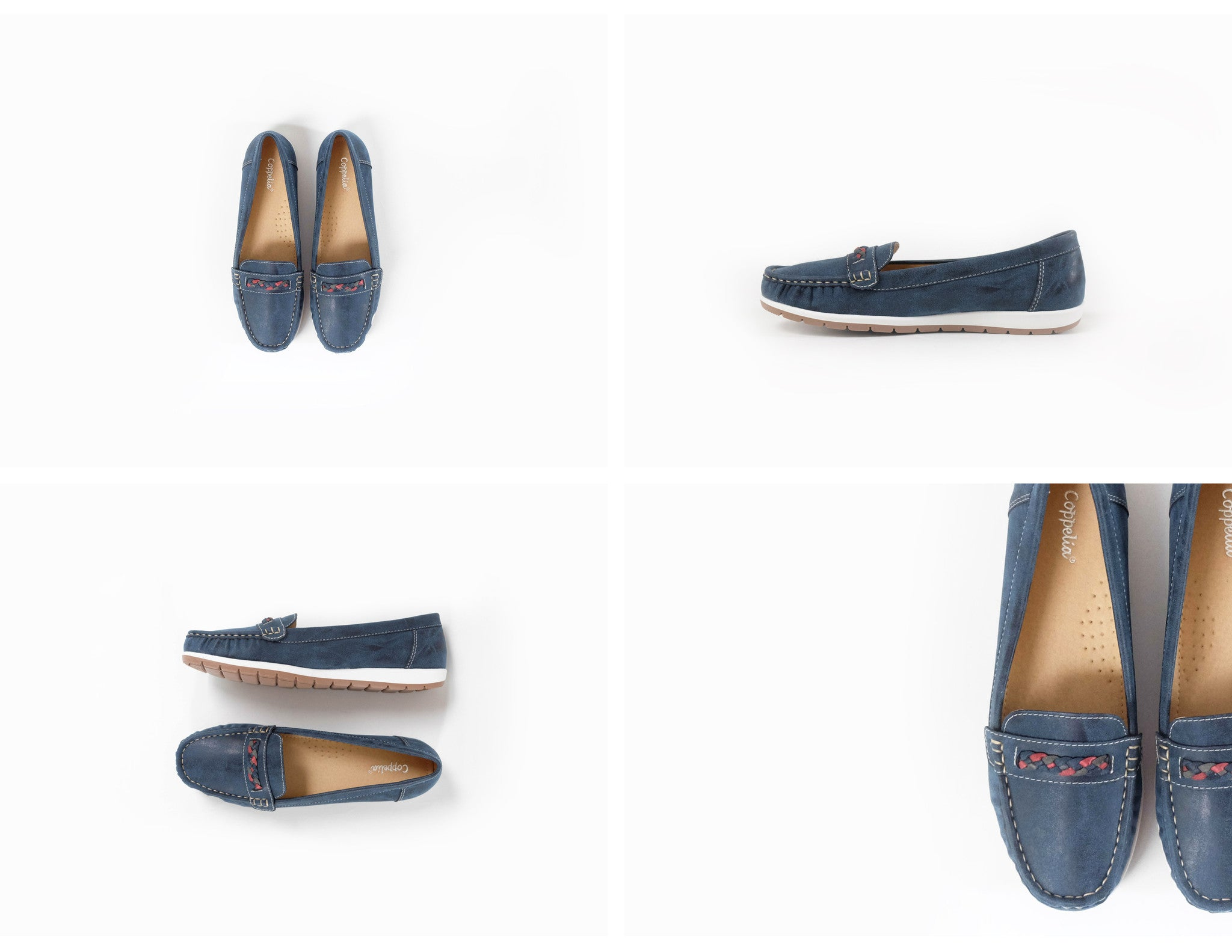 Ciara Braided Loafers Navy