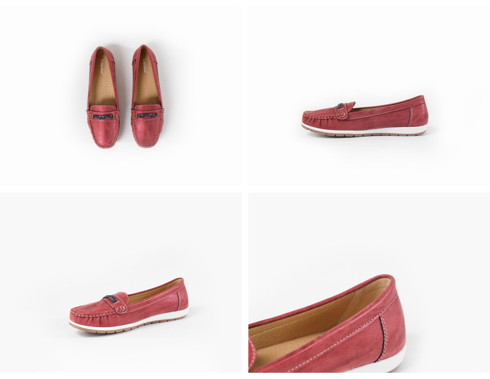 Ciara Braided Loafers Red