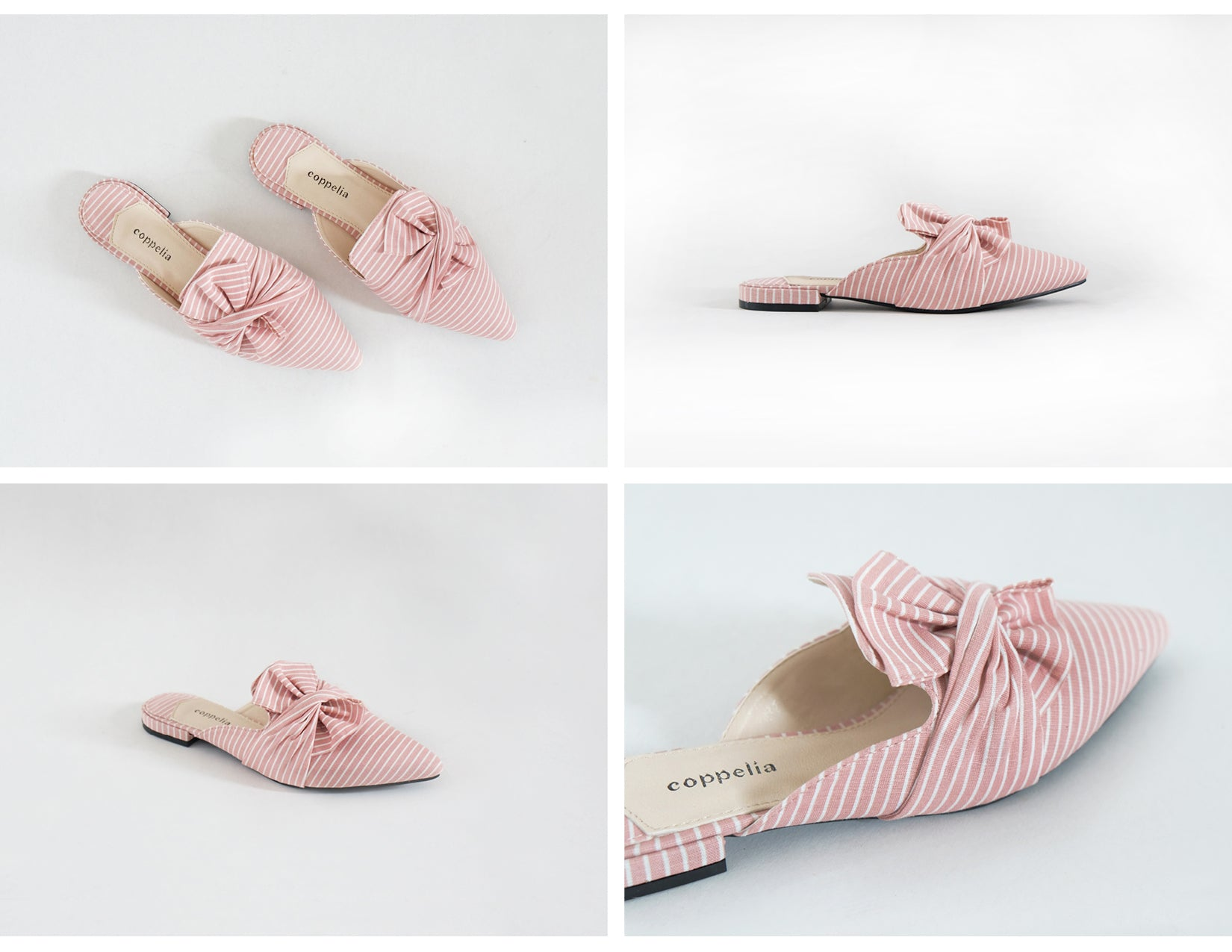 Arca - Twisted Mules Pink Stripes